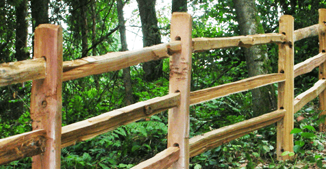 Wood Rail Split Rail Fence